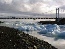 Free Bridge On The Icebergs Stock Image - 3627471