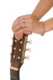 Free Hands On A Guitar,weariness Royalty Free Stock Photos - 3628098