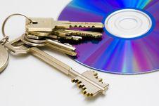 Free CD And Keys Royalty Free Stock Image - 3628256