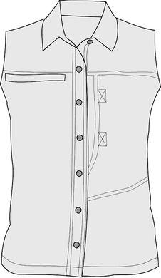 Free Sleeveless Button Shirt Royalty Free Stock Photography - 3628877