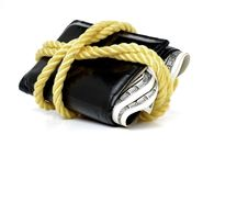 Wallet Full Of Cash Royalty Free Stock Photography