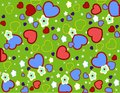 Free Seamless Heart Pattern Royalty Free Stock Photos - 36204458