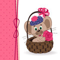 Free Mouse In A Basket Royalty Free Stock Image - 36206596