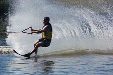 Free Wall Of Water Waterskiier Stock Photos - 36202203