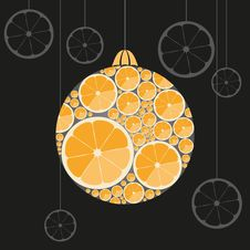 Free Orange Christmas Ball Stock Images - 36205354
