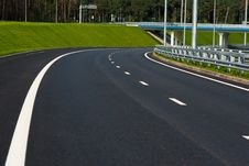 Highland Road. Bridge And Grass Royalty Free Stock Photography