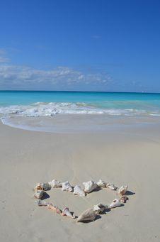 Free Heart On The Beach Stock Photo - 36207150