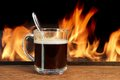 Free Hot Coffee And Fire Stock Image - 36215321