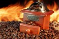 Free Old Coffee Grinder And Beans Royalty Free Stock Photo - 36216685