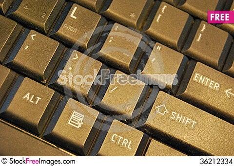 Free Black Keyboard Stock Images - 36212334