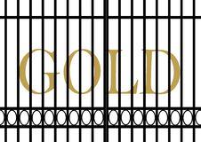 Free Gold Value Facing Decrease Royalty Free Stock Photos - 36212858