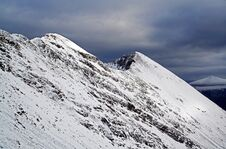 Free Moody Snow Covered Beinn Eighe Or Ruadh-stac Mòr Torridon Stock Photos - 36214663