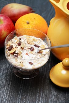 Free Bowl With Muesli Stock Photo - 36214670