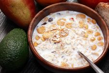 Free Bowl With Muesli Royalty Free Stock Photo - 36214695