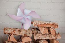 Free Blue Pinwheel Stock Photo - 36215710
