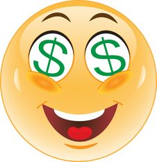 Smiley Dollar Money Royalty Free Stock Images
