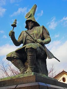 Free Japanese Samurai Statue Royalty Free Stock Image - 36218696