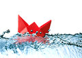 Free Red Paper Boat Royalty Free Stock Photo - 36222065