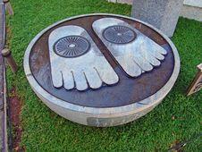 Free Buddha S Footprints Stock Photography - 36221952