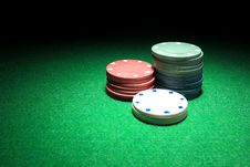 Free Gambling Chips Stock Photography - 36222132