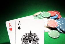Free Two Aces Royalty Free Stock Images - 36222189