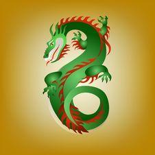 Free Fantastic Green Dragon Royalty Free Stock Photos - 36225908