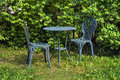 Free Metal Table & Chairs Royalty Free Stock Photos - 36231738