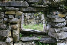 Free Kuelap Ruins Window Stock Photo - 36233450