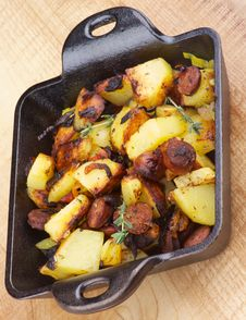 Free Sausages And Potato Stew Stock Images - 36233454