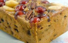 Free Cherry Genoa Cake Stock Photo - 36235060