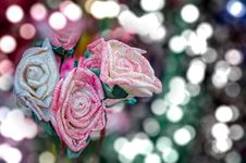 Free Artificial Pink Rose Flowers Royalty Free Stock Photo - 36236495