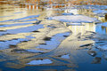 Free Floating Thin Ice On The River Stock Images - 36243644