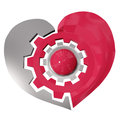 Free Steel Gear Wheel Heart Isolated On White Background Stock Photo - 36244860