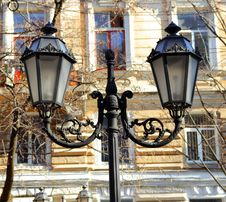 Beautiful Street Lamp In Odessa Royalty Free Stock Image