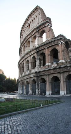 Exterior View Colosseum Rome Stock Image