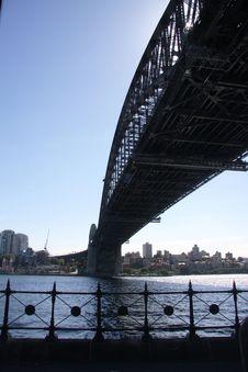 Free Below Sydney Harbour Bridge Royalty Free Stock Images - 36241199