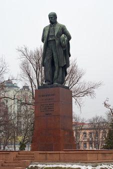 Free Soviet Monument To Shevchenko In Kyiv Royalty Free Stock Image - 36243486