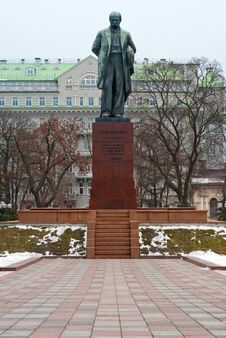 Free Soviet Monument To Shevchenko In Kyiv Royalty Free Stock Images - 36243489