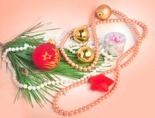 Free Peach Color Christmas Background Royalty Free Stock Photos - 36243768