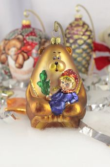 Free Christmas New Year Bear Decor Royalty Free Stock Images - 36244309