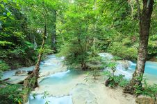 Free Deep Forest Waterfall In Thailand Royalty Free Stock Photography - 36245737
