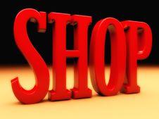 Free Shop 3d Text Stock Photos - 36246143