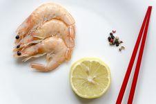 Free Prepared Shrimps Stock Photos - 36248593