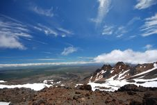 Free View Down From Mount Ruapehu. Stock Photo - 36248680