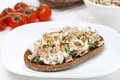 Free Rye Bread With Tuna And Homemade Cheese Stock Photo - 36254870