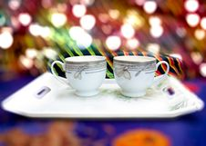 Free Coffee Or Tea Cups Royalty Free Stock Photo - 36250215