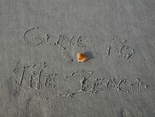 Free Gone To The Beach Stock Image - 36253911