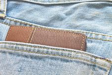 Free Brown Wallet In Jeans Trousers Back Pocket Royalty Free Stock Photos - 36254758
