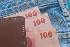 Free Banknote In  Jeans Pocket Stock Image - 36255851