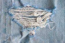 Free Blue Torn Denim Jeans Texture Stock Photos - 36258103